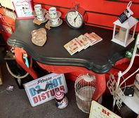 Red & Black Shabby Chic Console Table